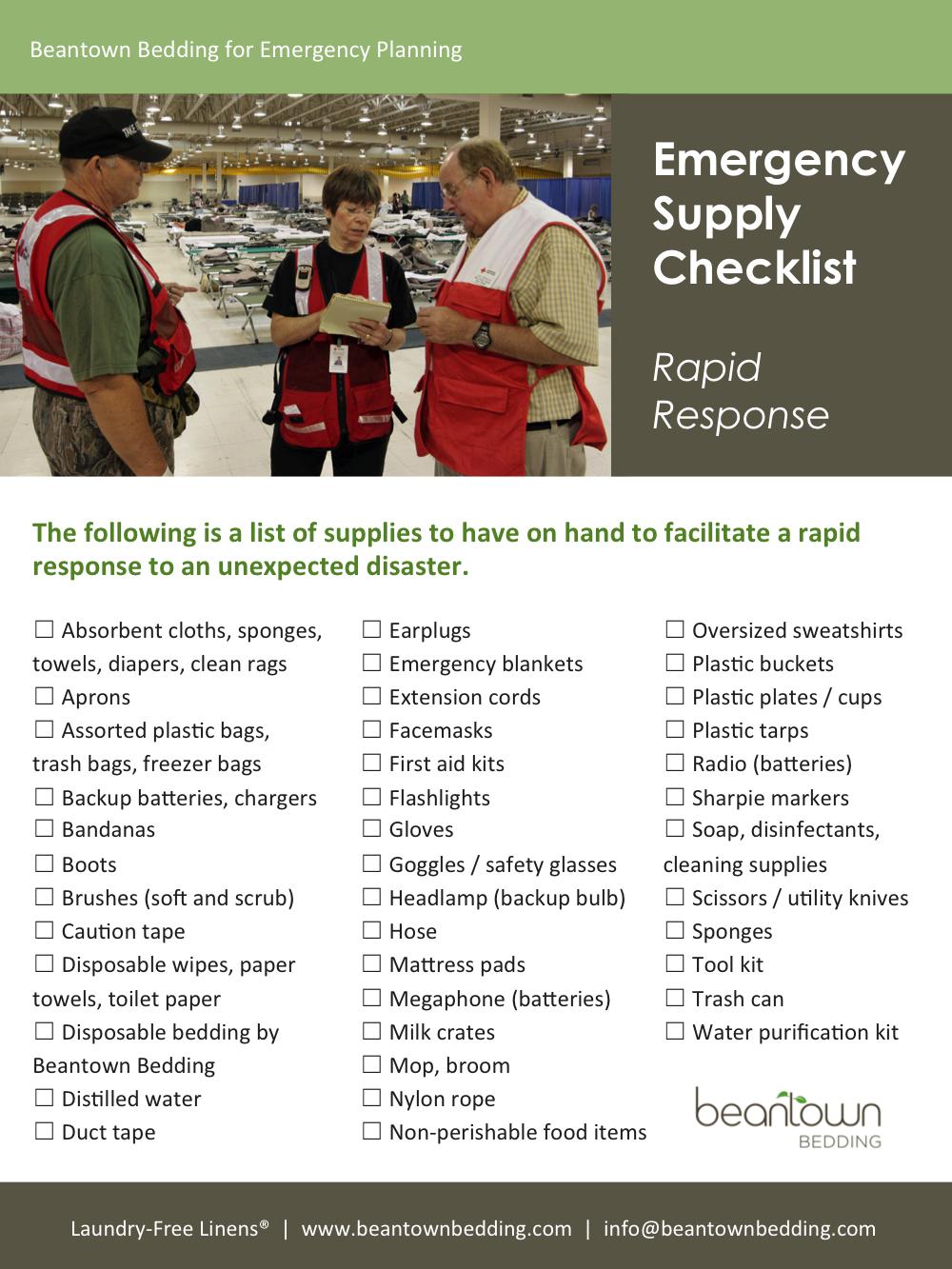 Emergency Management Checklist
